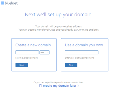 Choose a Domain